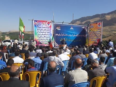 مراسم کلنگ زنی پروژه گاز رسانی ریجاب و ۵۴ روستای شهرستان دالاهو
